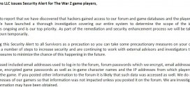 WarZ Hacked 600k+ Customer Data Taken